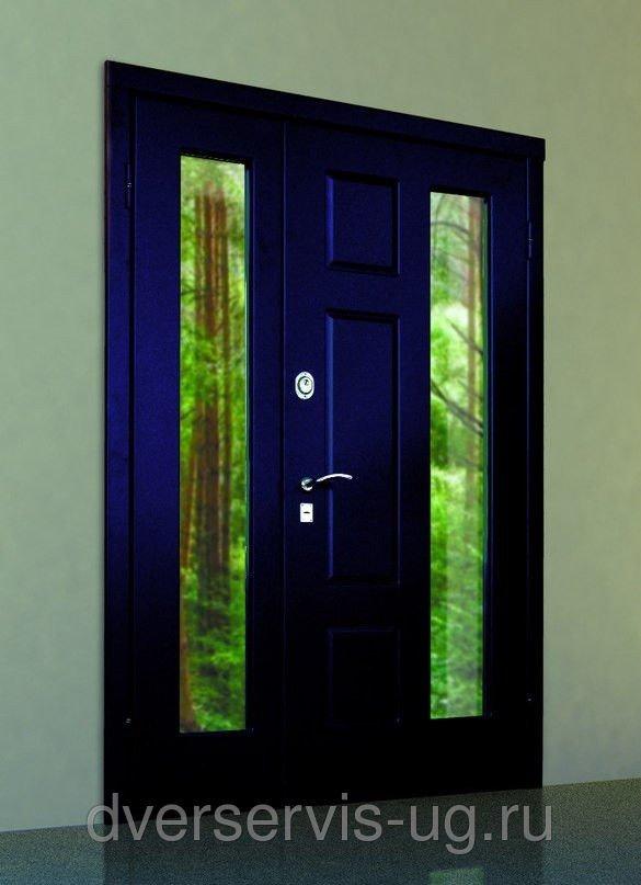 лобня дверь стальная двухстворчатая