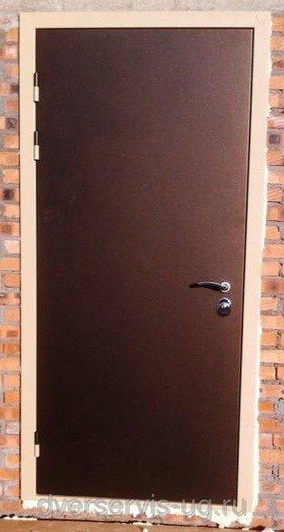 Дверь техническая металл-металл, под размеры