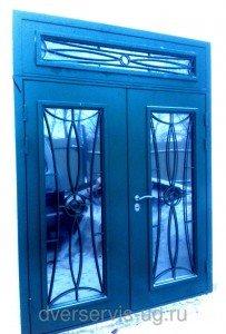 Двухстворчатая дверь с фрамугой
