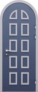 Арочные входные стальные двери