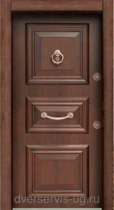Шпонированая стальная дверь 002