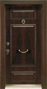 Шпонированая стальная дверь 117