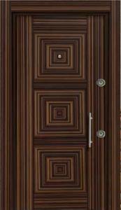 Шпонированая стальная дверь 207