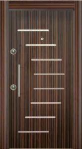 Шпонированая стальная дверь 201