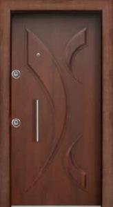 Шпонированая стальная дверь 005