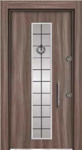 Входная дверь с молдингами 030