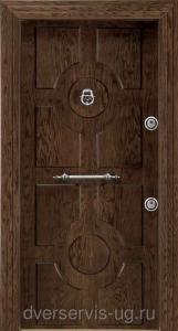 Шпонированая стальная дверь 115