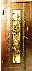 Дверь с ковкой Виноград