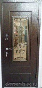 Дверь с ковкой Листва