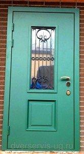 Входная дверь с израильской ковкой