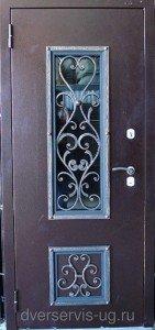 Дверь со стеклом и ковкой г. Йошкар-Ола
